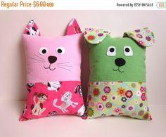 Dog & Cat Pillow Pattern Tutorial PDF Sewing by MyFunnyBuddy