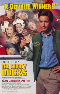 Mighty Ducks. This may sound so stupid but the Mighty Ducks movies are like my favorite movies ever. Yes I'm a teenager and these movies are like 25 years old but whatever. I don't LOVE hockey but these movies are just awesome