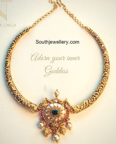 Delicate Antique Nakshi Kanthi Necklace photo