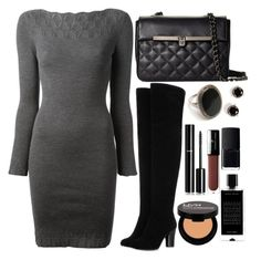 Untitled #3386 by natalyasidunova on Polyvore featuring Jean-Paul Gaultier, Brooks Brothers, Kate Spade, NYX, Chanel, Vincent Longo, Agonist, NARS Cosmetics and Vintage Collection