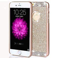 5cc317dd6f5 iphone 7 Plus Case,ARSUE (TM) Luxury Hybrid Beauty Crystal Rhinestone With  Gold
