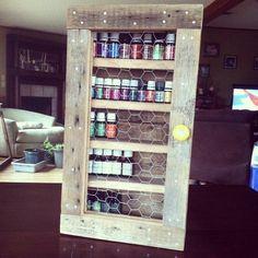 Rustic Reclaimed Barn Wood Hanging Essential Oil Cabinet - Reclaiming America $75