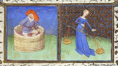 September and Libra - Book of Hours, MS M.453 fol. 9r - Images from Medieval and Renaissance Manuscripts - The Morgan Library & Museum