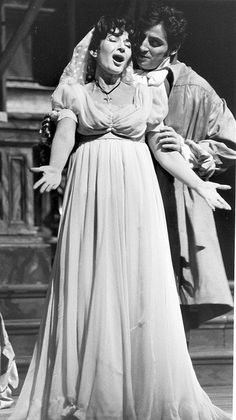 Maria Callas as Floria Tosca and Renato Cioni as Mario Cavaradossi in the Covent Garden Opera Company production of 'Tosca', 21 January 1964