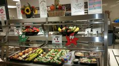 Come take a look at the beautiful fruit and vegetable choice in the cafeteria at Greenbriar East ES. #SchoolLunch
