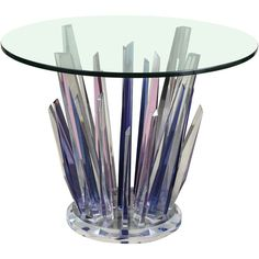 Stunning Stalagmite Lucite Table ❤ liked on Polyvore featuring home, furniture, tables, accent tables, fillers, backgrounds, plexiglass table, lucite table, plexiglass furniture and lucite furniture