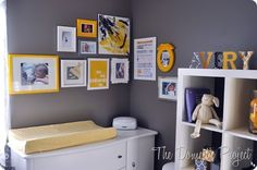 cluster of wall art in a nursery - Bing Images