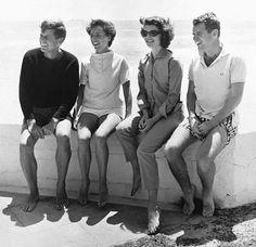 Jack, Ethel, Jackie and Bobby.