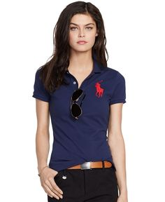 Shop for Tops online at Crafted from breathable cotton mesh, Polo Ralph Lauren\u0026#39;s skinny-fitting polo shirt features Ralph Lauren\u0026#39;s signature embroidered Big ...