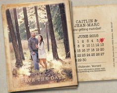 Rustic outdoors beach Wedding Save The Dates Photo Magnets Postcards by SAEdesignstudio