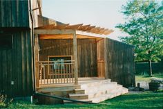 front decks with pergolas   Spring Projects - Front Deck with Pergola traditional-patio