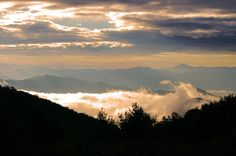 Sunrise in the Great Smoky Mountains National Park in North Carolina