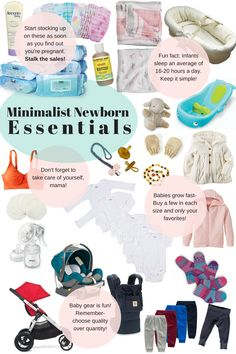 Together In Love- Minimalist Newborn Essentials  Just the basics - quality over quantity - minimalist mommy guide - necessities list - prepare throughout pregnancy - what you need on your baby registry