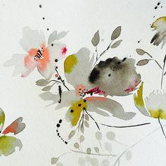 Florals painted in grey... hmmmm