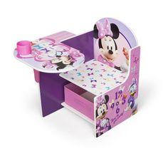 Pupitre de madera Minnie Mouse Disney para niñ@s pequeñas desde los 2 añitos. Serie muebles infantiles de madera de licencia Minnie Mouse, original Disney. Dimensiones en cent& ..