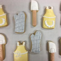 Kitchen Inspired Bridal Shower Cookies by @cookiesbykatewi