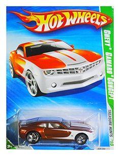 2010 Hot Wheels SUPER TREASURE HUNT Chevy Camaro Concept Dark OrangeWhite * Read more  at the image link.