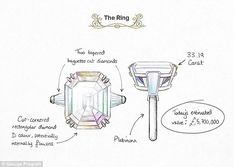 Larger than life: Richard proposed to Elizabeth with a massive platinum and 33.19 carat diamond ring