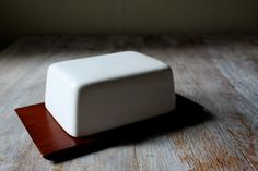 Midcentury Wood Butter Dish by FieldsForests on Etsy