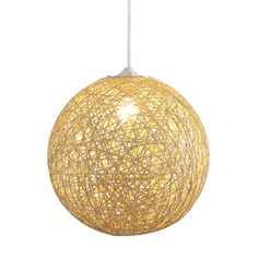 The Continuity Ceiling Lamp showcases a charming beige metal finish and contemporary styling. This effulgent ceiling lamp also offers a single-light design and a modern, paper rope shade.