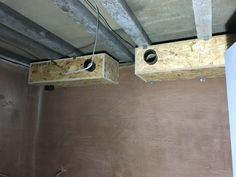 Ventilation system construction in a recording studio - Cedar West, Leeds Pallet Boxes, Studio Build, Ventilation System, Studio Interior, Recording Studio, Leeds, Construction, Rec Rooms, Building