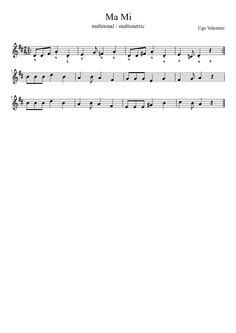 Ma Mi #sheetmusic #musiced