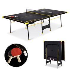 e998e0721 FOLDABLE Tennis Table Ping Pong Tournament Size FREE Paddles Balls Net Posts