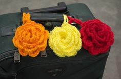 Fashionable luggage tags make it easy to spot!