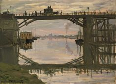Claude Monet - The Wooden Bridge (1872)