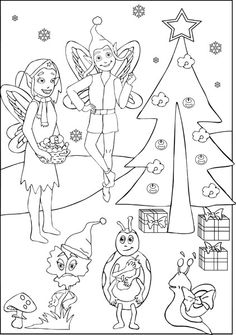 #Ausmalbild: Weihnachten im Zauberwald #coloring #kids