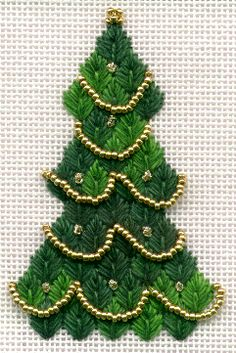 Trim Your Tree (another pinner: I like the fern stitch for the tree)