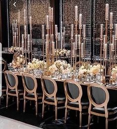 Tall centrepiece, candlestick,9 arm candelabra,gold glass candle holder for hire | Elite events Decor Wedding Table Centerpieces, Reception Decorations, Event Decor, Table Decorations, Gatsby Wedding Decorations, Branch Centerpieces, Reception Party, Birthday Decorations, Candlestick Centerpiece