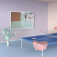 Saved by Sallie Harrison (salliewho). Discover more of the best Abstract, Pantones, Pastel, and Room inspiration on Designspiration Pastel Room, Pastel Colors, Pastels, Pastel Yellow, Pink Color, Pink Blue, Vaporwave, Retro Mode, Ping Pong Table