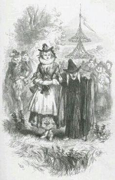 An illustration of Ann Redferne and Chattox, two of the Pendle witches, from Ainsworth's novel The Lancashire Witches, published in 1849. Ann Redferne is called Nance in the novel, and described as Chattox' grand-daughter, although she was in reality her daughter
