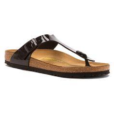 Birkenstock Women'S Gizeh Patent Birko Flor Slip On Flip Flop Sandals Black 4366 Flip Flop Sandals, Flip Flops, How To Make Shoes, Black Sandals, Slip On, Footwear, Boots, Style, Churchill