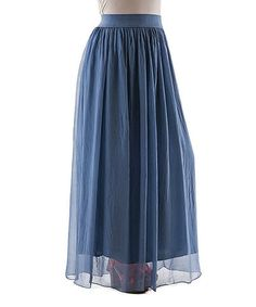 Loving this Blue Jeans Silk Maxi Skirt on #zulily! #zulilyfinds