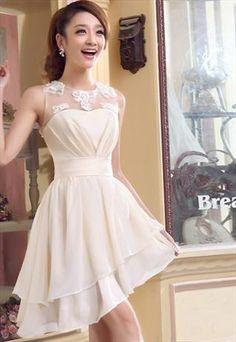 sexy irregular chiffon bridemaid dress