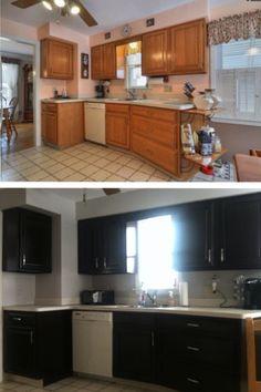 diy jewelry cabinet | ... Espresso Gel Stain Old Kitchen Cabinets @ MyHomeLookBookMyHomeLookBook