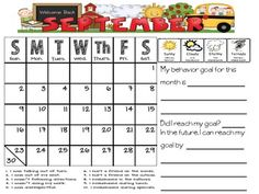 Behavior Calendar to use with Leader in Me Data Notebooks
