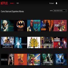 Secret link to Comic Book and Superhero Movie archive on Netflix! Genre Code 10118