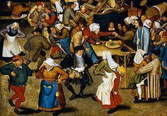 Wedding Dance in a Barn, by the 16th-century Flemish-cum-Belgian painter, Pieter Brueghel
