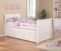 Depiction of Have Your Children Twin Bed with Storage for Well Organized Kids Room