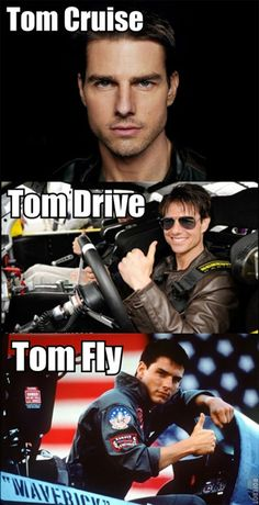There have been a lot of internet trends and memes and puns are always popular. Here are 55 more funny and hilarious celebrity name puns you're gonna love! Tom Cruise Meme, Tom Cruise Quotes, Funny Puns, Hilarious, Funny Stuff, Stupid Stuff, Funny Sayings, Random Stuff, Celebrity Name Puns