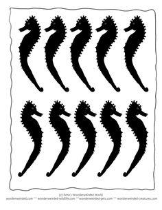 seahorse-silhouettes-4.gif 612×792 pixels