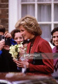 February 26 1985 Diana, Patron, Malcolm Sargent Cancer Fund for Children, visited the new offices of the Fund at Abingdon Road, in London