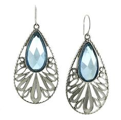 Acquamarine Teardrop Earrings