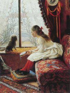 Elin Danielson-Gambogi (Finnish, 1861-1919), Portrait of Walborg Jakobsson, 1900