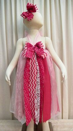Valentine Shabby Chic Raggedy Tutu Dress and by cd1ofakind on Etsy, $35.00