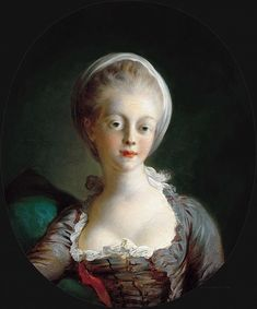 Jean-Honore Fragonard: Portrait of a young lady