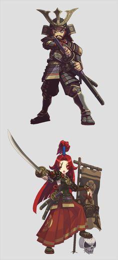 Lost Saga Heroes by KyuRazz, via Behance